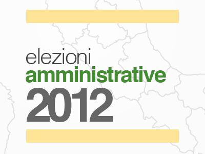 Amministrative 2012